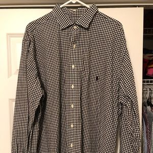 Polo Ralph Lauren 2XLT black & white button down
